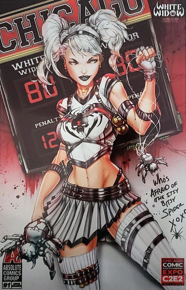 White Widow #1 Metal Cover Comic Book Unsigned - C2E2 Cheer Exclusive LE 25