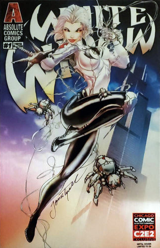 White Widow #1 Metal Cover Comic Book Signed - C2E2 Exclusive LE 25