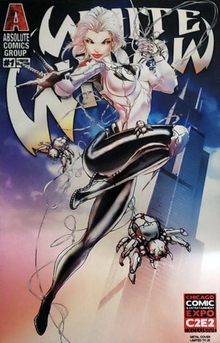 White Widow #1 Metal Cover Comic Book Unsigned - C2E2 Exclusive LE 25
