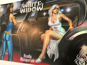 "11""x17"" Metallic Ink Print - White Widow #3 - Arrival Numbered Edition"