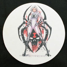 Load image into Gallery viewer, White Widow Coaster - Set of Two