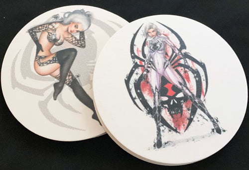 White Widow Coaster - Set of Two