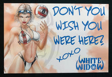 Load image into Gallery viewer, White Widow Postcard Set 01