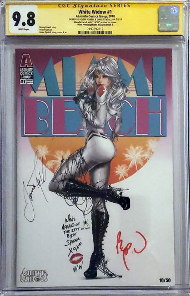 White Widow #1 9.8 CGC Signed - SuperCon Cover A Exclusive LE 50