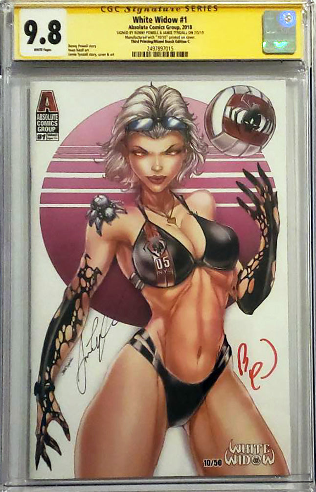White Widow #1 9.8 CGC Signed - SuperCon Cover C Exclusive LE 50