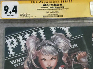 White Widow #1 9.4 CGC Signed - Philly Con Exclusive LE 50