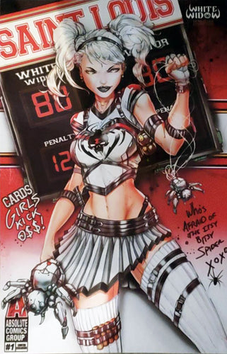 White Widow #1 Metal Cover Comic Book Unsigned - St. Louis Cards Exclusive LE 25