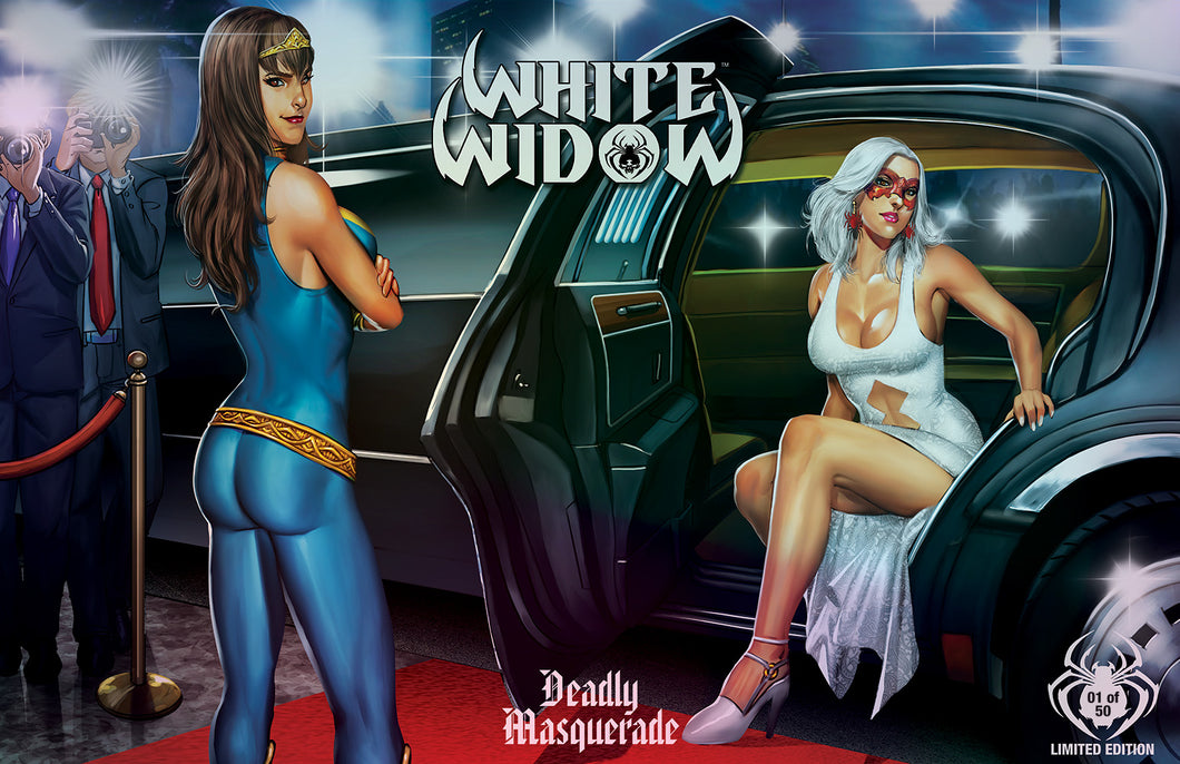 11X17 METALLIC INK PRINT - WHITE WIDOW #3 - ARRIVAL NUMBERED EDITION