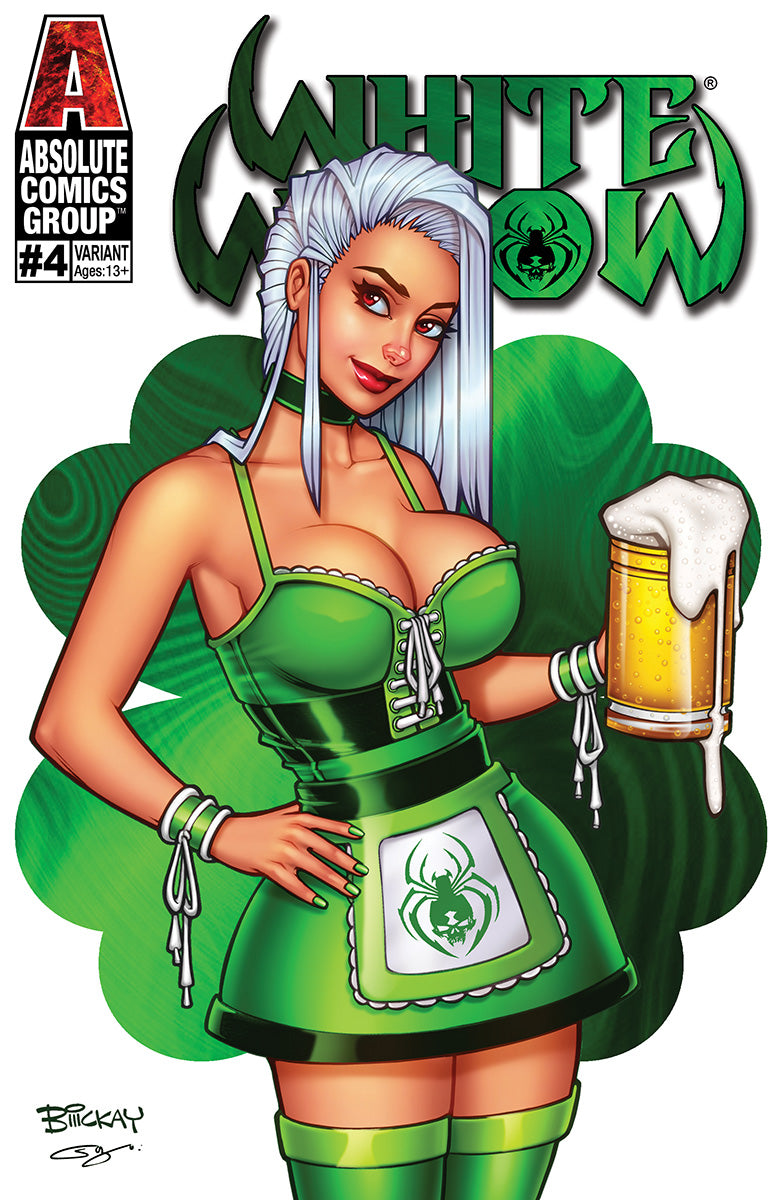 WW04StA - White Widow #4 - St. Patrick's Day 2020 Trade Foil