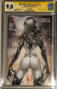 White Widow NYCC Preview #1e - Suited Up - CGC 9.0 Yellow Label