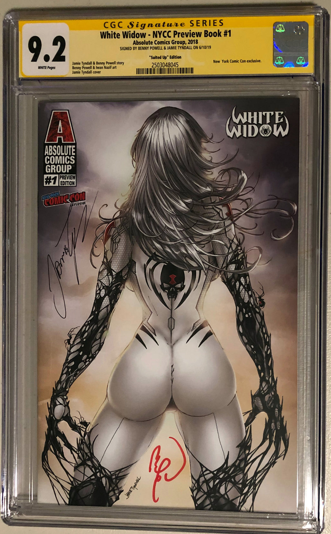 White Widow NYCC Preview #1e - Suited Up - CGC 9.2 Yellow Label