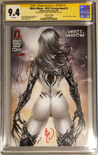 White Widow NYCC Preview #1e - Suited Up - CGC 9.4 Yellow Label