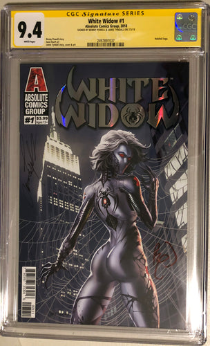 White Widow #1A - Painted Silver Retail - CGC 9.4 Yellow Label
