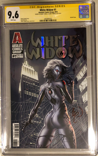 White Widow #1A - Painted Silver Retail - CGC 9.6 Yellow Label