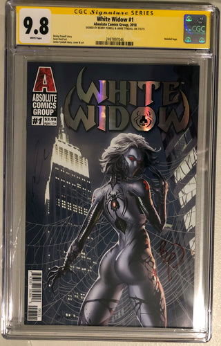 White Widow #1A - Painted Silver Retail - CGC 9.8 Yellow Label