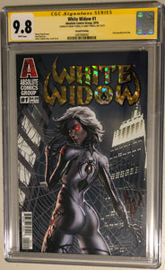 White Widow #1A2 - Painted Gold Retail 2nd - CGC 9.8 Yellow Label