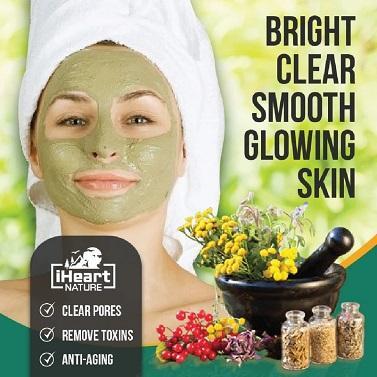Matcha Face Mask (DIY Powder) with Neem and Mint Herbal Powders - iHeart Nature