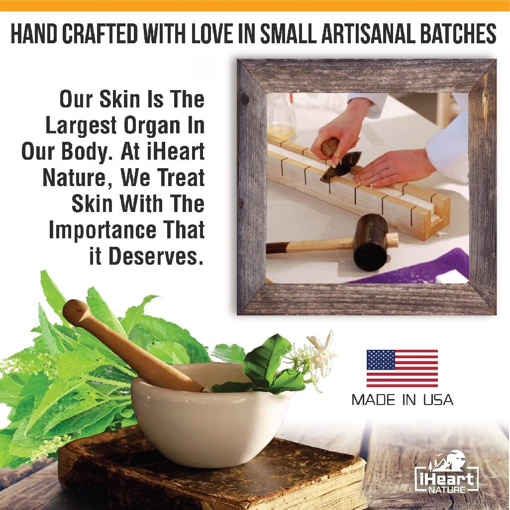 Natural Organic Lavender Oatmeal Soap Bar - Oatmeal Gently Exfoliates and Soothes Inflammation Such as Eczema - iHeart Nature