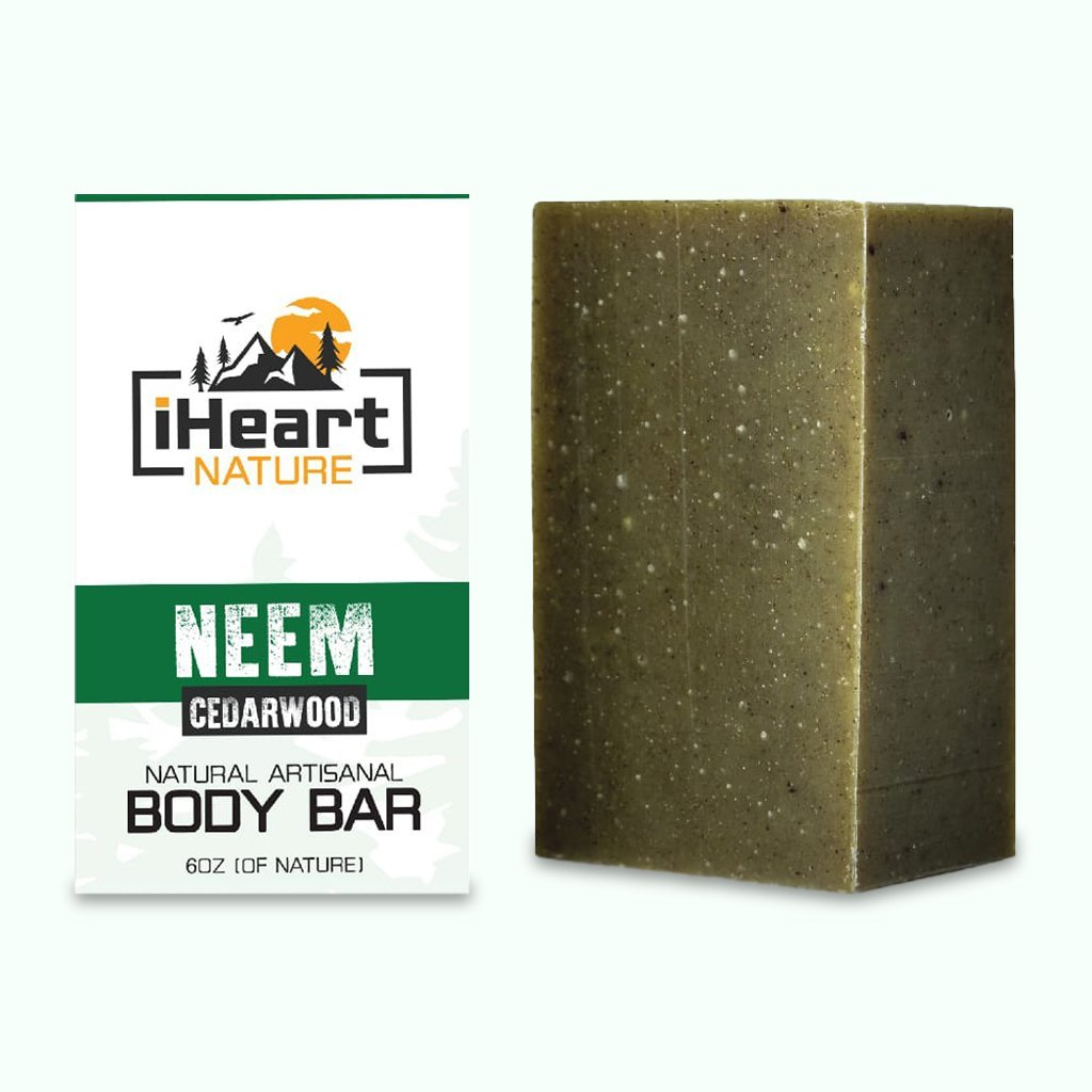 Neem Soap For Face & Body - Neem Helps with Acne, Blackheads, Skin Fungus, & Skin Irritations - iHeart Nature