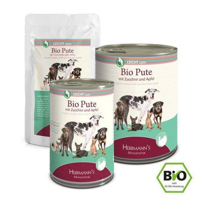 Herrmanns Selection Light BIO Pute mit Zucchini-Herrmanns-athleticdog