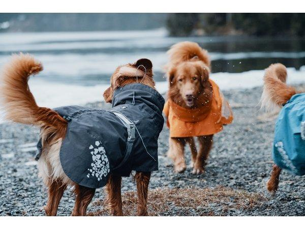 Regenmantel Hurtta Monsoon Coat - dunkelgrau-Hurtta-athleticdog