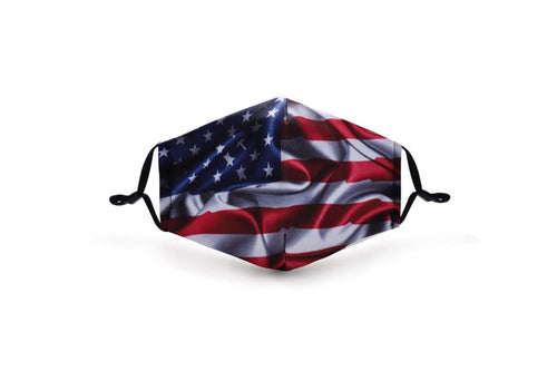 American Flag In Stock Face Shield