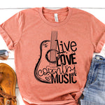 20-024 - 398 - Live Love Country Music - *Pre-Order* - Screen Print - Due 8/9