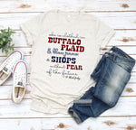 20-031 - 559 - She is Clothed in Buffalo Plaid BF - *Pre-Order* - Screen Print - Due 10/4