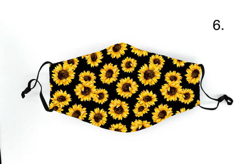 Sunflower In Stock Face Shield