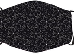 Black and White flowers In Stock Face Shield