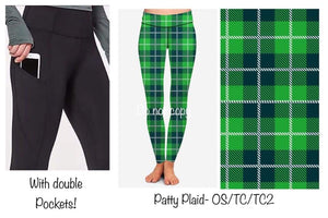 120819 Double Pocket - St. Patty's Pre-Order - Patty Plaid