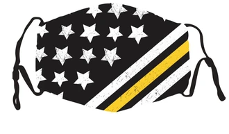 Flag - Yellow Line  In Stock Face Shield