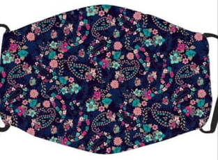 Multi-Colored Flowers In Stock Face Shield