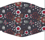 Navy With Flowers In Stock Face Shield