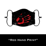 Red Hand Print - Face Shield - PRE-ORDER - ETA End July 2020