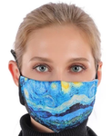 Stary Night In Stock Face Shield