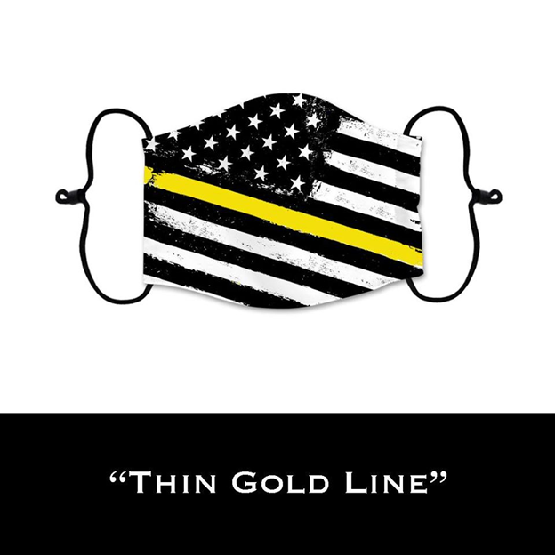 Thin Gold Line - Face Shield - PRE-ORDER - ETA End July 2020