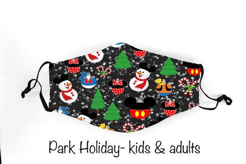 Park Holiday In Stock Face Shield