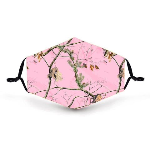 Real Pink Camo In Stock Face Shield