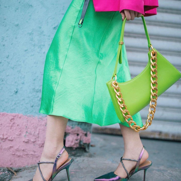 Apede Mod Bright Green Froggy Bag