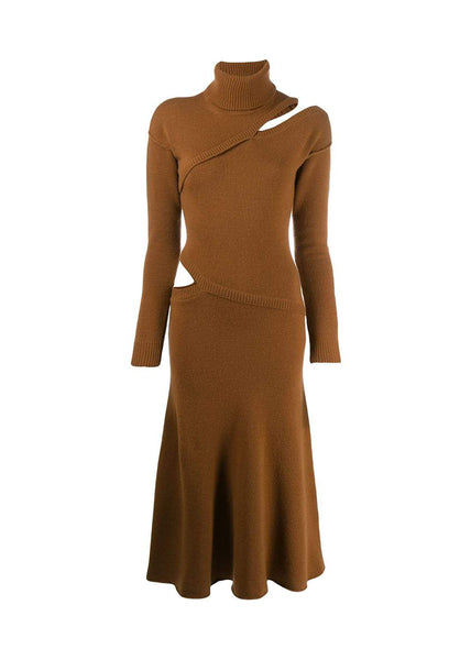 Each x Other Camel Cut Out Sweater Dress