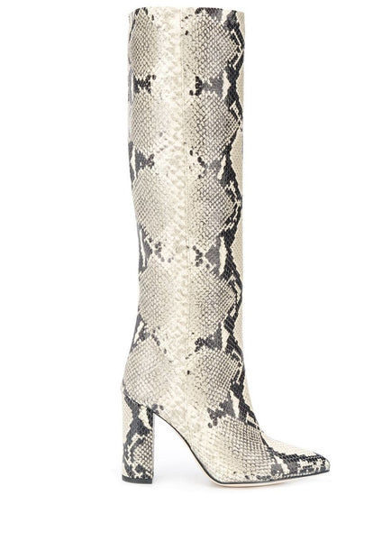 Paris Texas Natural Python Embossed Boots