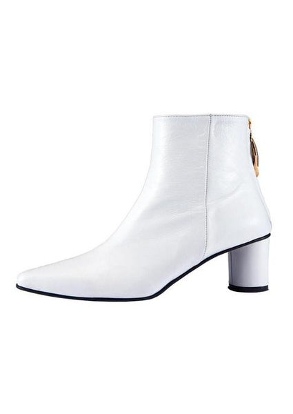 Reike Nen Wave Oval Ankle Boots White