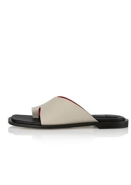 Yuul Yie Origami Beige & White Sandals