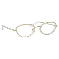 AREA x Linda Farrow Silver Sunglasses