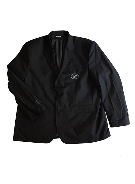 WE11DONE Black Oversized Suit Logo Blazer