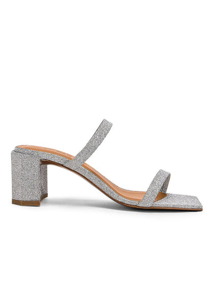 BY FAR Tanya Silver Sandals
