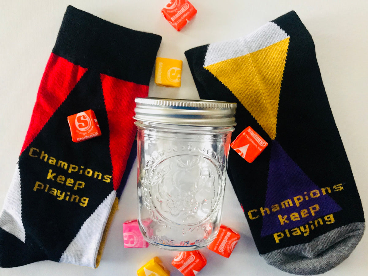 Unisex Beautiful Socks With Inspirational Words And A Free Card
