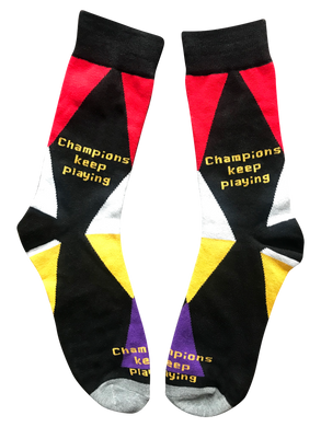 Champions Keep Playing, Mid Calf  Unisex Dress Socks