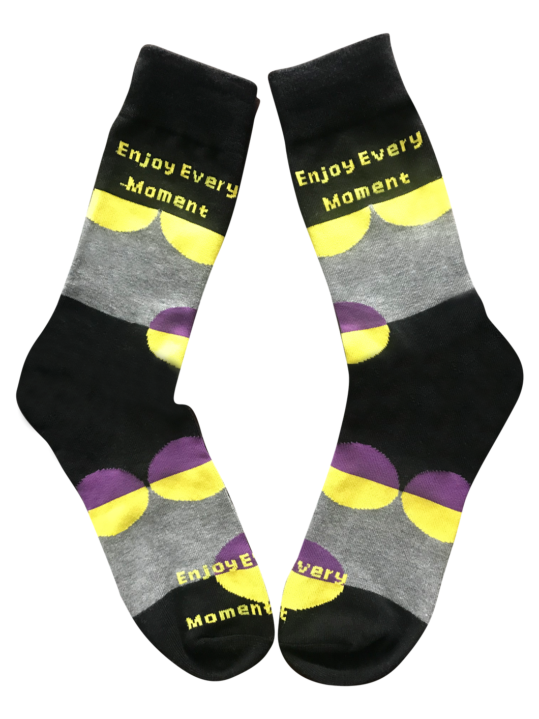 Enjoy Every Moment, Mid Calf Unisex Dress Socks
